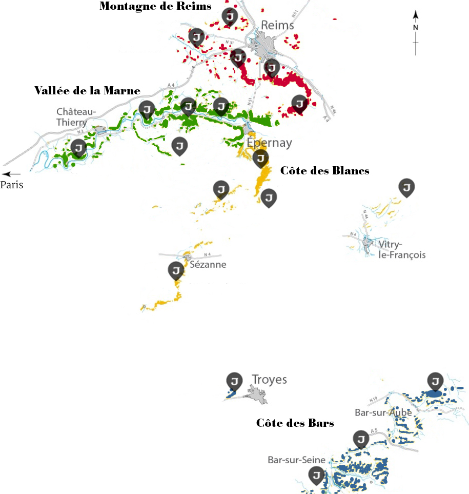 Carte-vignoble-de-Champagne Jeeper avec secteurs